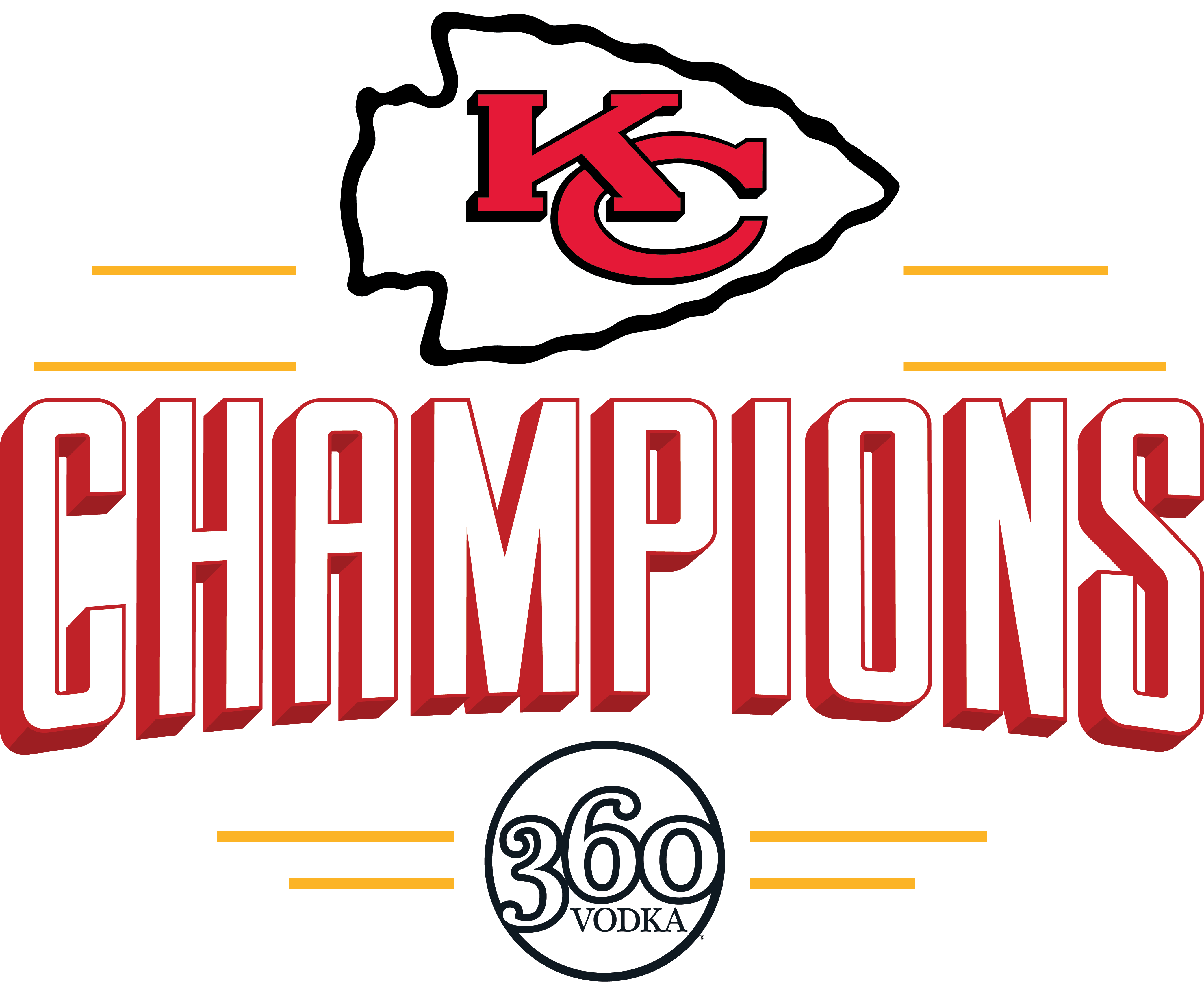 360 Vodka The Official Vodka Of The World Champion Kansas City Chiefs
